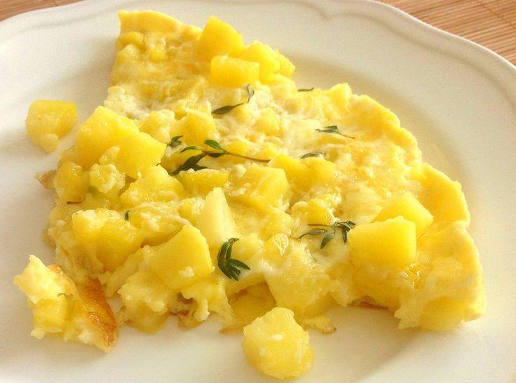 Fit Kızın Yemek Kitabı: Hafif patatesli omlet/yumurta - 124 kkal/100g