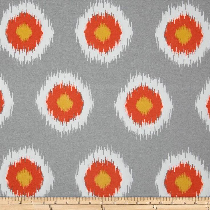 Premier Prints Indoor/Outdoor Ikat Domino Citrus
