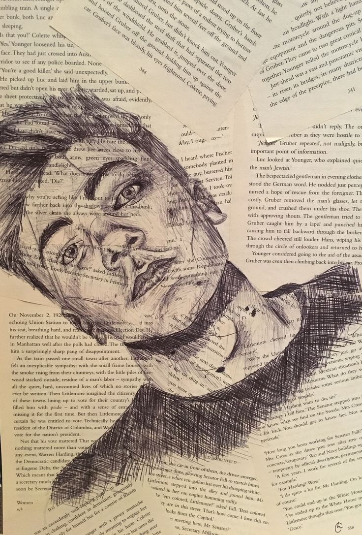 Excited to share the latest addition to my #etsy shop: biro portrait sketch on aged book pages