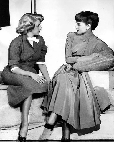 Rosemary Clooney and Audrey Hepburn. #vintage #1950s #actresses
