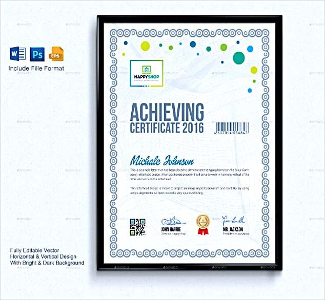 Best Certificate Template Images On   Certificate