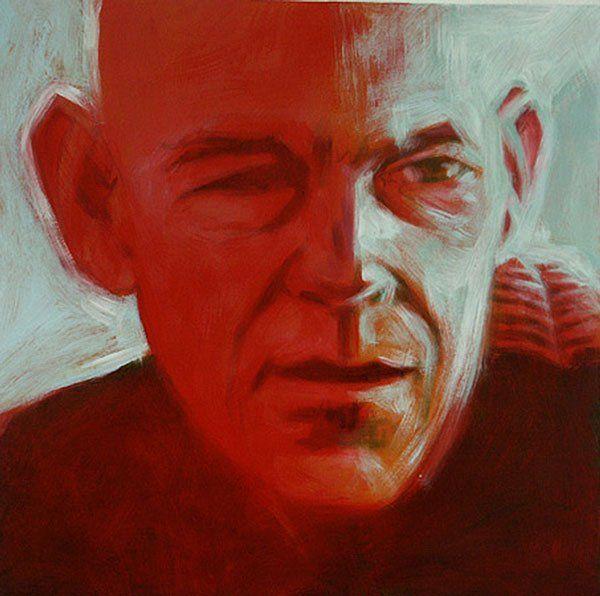 Stefan Blom | 'portrait of Mark'  oil on canvas