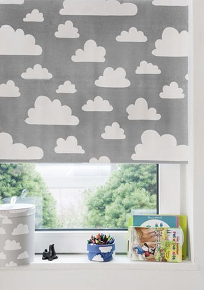 Rolgordijn Wolken - Grijs