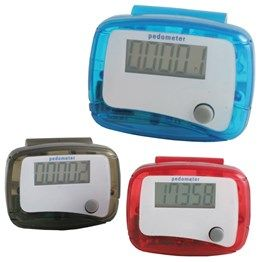 Mini Pedometer  Simple design with step counter & reset button. Includes Battery.