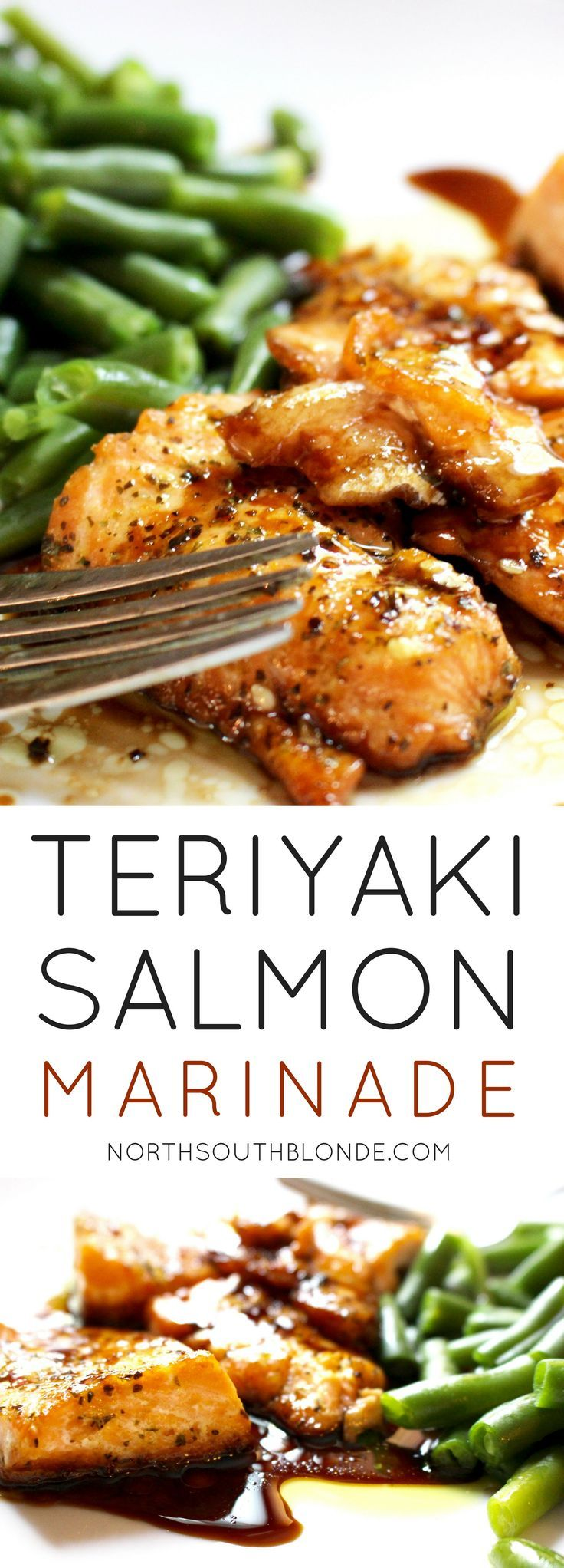 A tasty teriyaki salmon recipe that's sweet enough to get your kids eating healthy. The marinade is super easy to make and involves only a few ingredients!