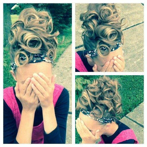 Curly bun!