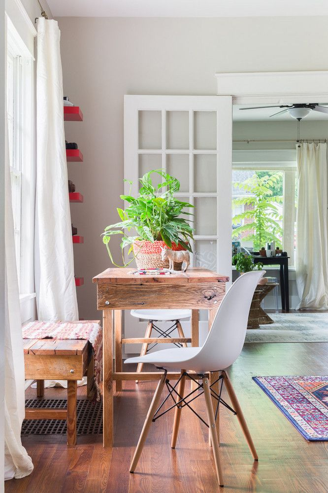 dining room table with mixed seating