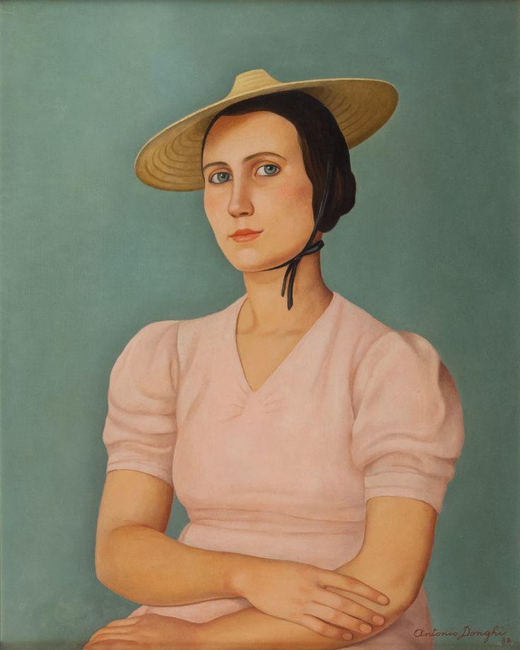La signorina Luisa, 1938, by Antonio Donghi (Italian, 1897–1963)