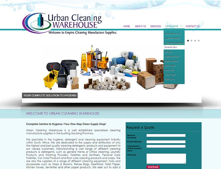 WEBSITE DESIGN >> Urban Cleaning Warehouse (Pretoria, Gauteng) - Created By Design So Fine