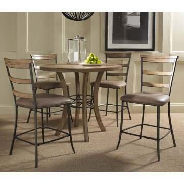 Tall kitchen table set...wood and metal.