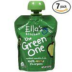 7-Pack of 3-Ounce Ella's Kitchen Organic Smoothie Fruits Baby Food (The Green One) $4.75Baby Food, Ella Kitchens, 3 Ounce Ella, Kitchens Organic, Organic Stuff, Green, Organic Smoothie, Fruit Baby, Smoothie Fruit