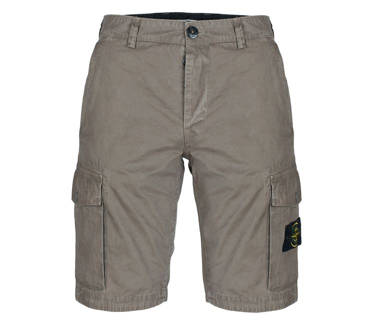 Stone Island Cargo Shorts in Dove Grey