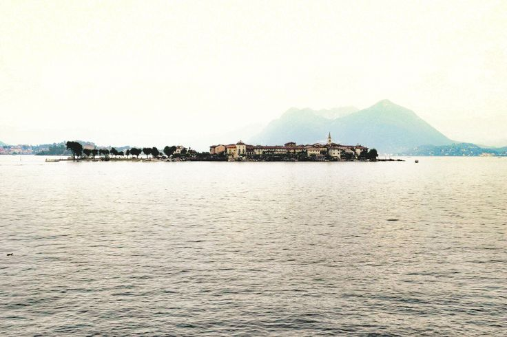 The island of Pescatori in a cloudy summer day. #italybeauty #lagomaggiore