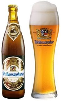 There are great beers, and then there are world class beers. Winner of the World Beer Awards for 2011 & 2012 for best wheat beer is the Weihenstephener Vitus. Hazy  yellow with a dense head, the flavor explodes in your mouth with a pleasant fruit/ banana taste with a malty sweetness. At 7.70% ABV, compared to their hefeweissbier at 5.40% ABV, I could tell the slight difference in alchol. Do not pass this beer up as you look for something different to try. 5 out of 5 stars.