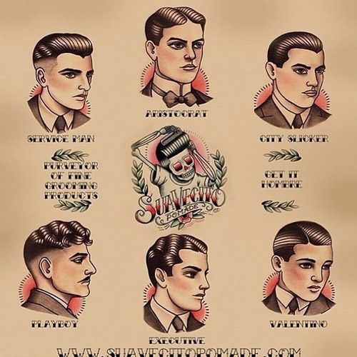 lavalover77: Gentle men's haircutting guide poster now...