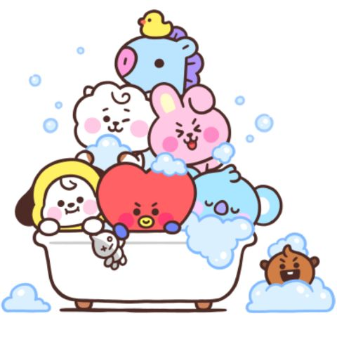 #tata #bt21 #baby #drawing #love #heart #cute   Bts chibi, Bts wallpaper, Bts drawings