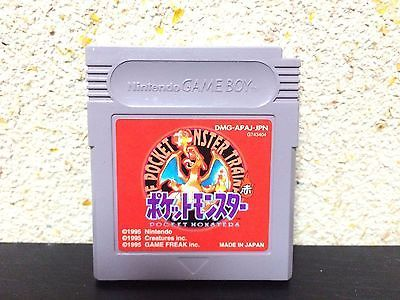 Pokemon Red Game Boy Japan Nintendo Pocket Monsters Japanese Red version