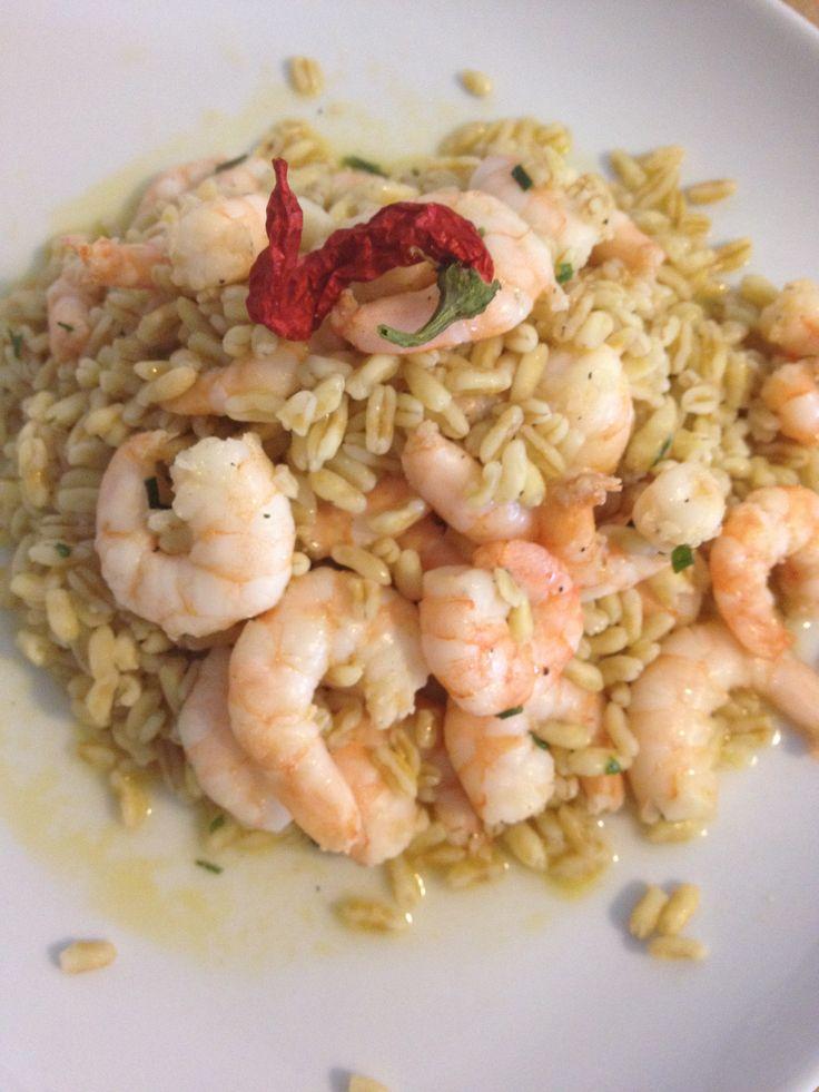"""Un """"risotto"""" speciale con chicchi di #Kamut e tanti #gamberi! #benessere #recipe"""