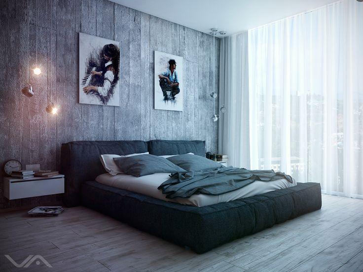 Спальня Лофт. Bedroom Loft - Галерея 3ddd.ru