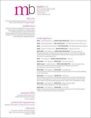 Graphic Design Resume. Simple.