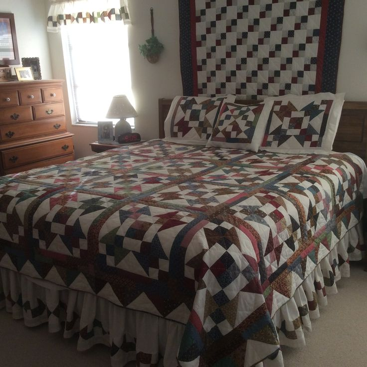 Quilt Ideas For Master Bedroom : Scrap quilt for master bedroom made by Sharon Theriault. Pattern is Pick and Choose My Quilts ...