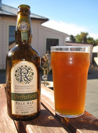 Renaissance - Perfection (Pale Ale). Bit of a theme going on here already. Very tasty beer from the Renaissance Brewery located in Blenheim. Hoppy, slight malts there too, very crisp and refreshing.