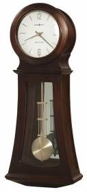 Contemporary wooden Howard miller quartz Chocolate Wall Clock 625502-Howard Miller wall clock finished in Chocolate on select hardwoods and veneers, this contemporary wooden wall clock features a mirrored back panel and plain glass in lower door.