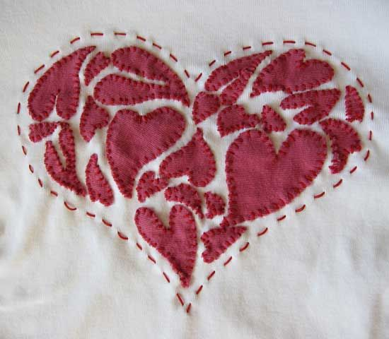 from these hands - Journal - Appliqued Heart T-Shirt
