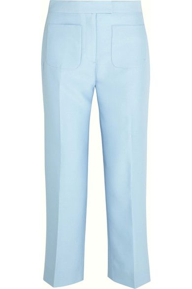 Sky-blue wool and silk-blend twill  Concealed hook and zip fastening at front  78% wool, 22% silk; lining; 100% polyester Dry clean Designer color: Frost Blue
