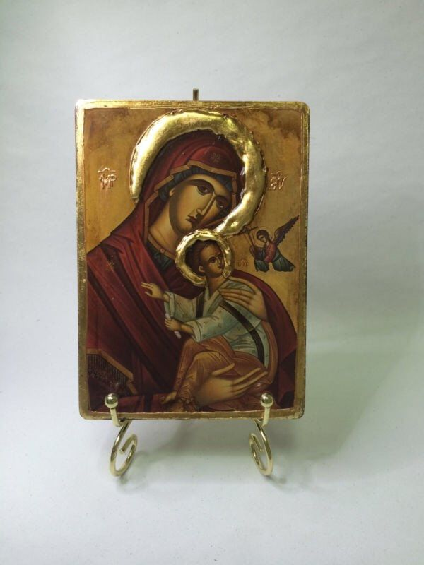 A personal favourite from my Etsy shop https://www.etsy.com/listing/478169938/our-lady-theotokos-byzantine-icon