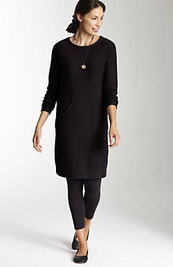 pure jill luxe sweater dress with leggings
