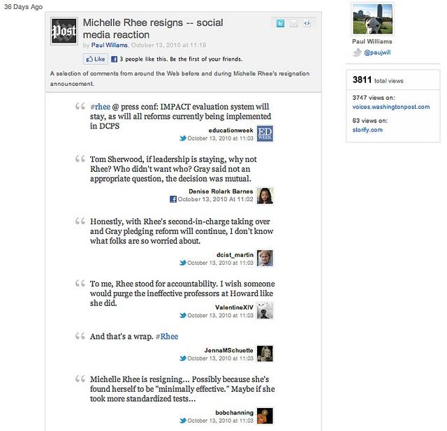using Storify - video