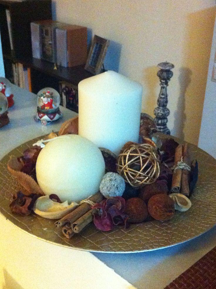 Handmade Christmas candles Natural fabrics