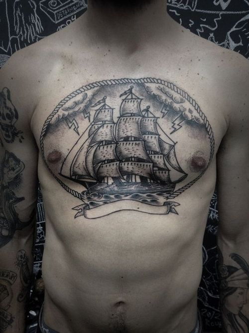 17 best images about ink on pinterest nautical tattoos for Sweet chest tattoos