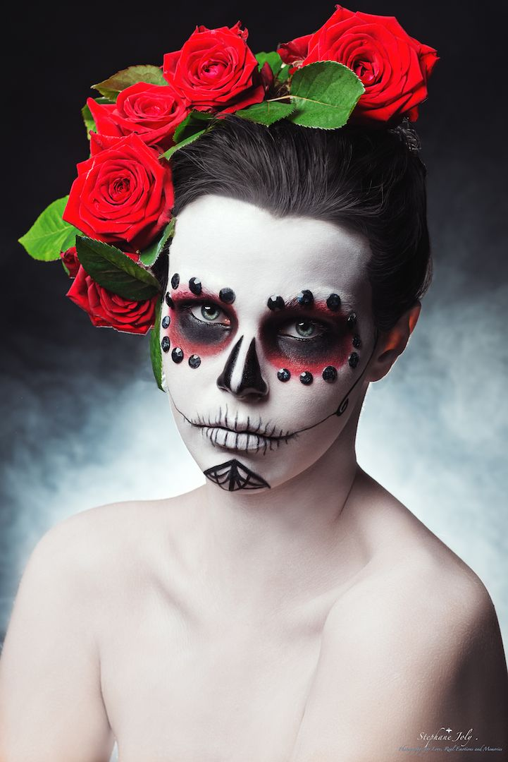 die besten 25 calavera make up ideen auf pinterest tag der toten make up sugar skull make up. Black Bedroom Furniture Sets. Home Design Ideas