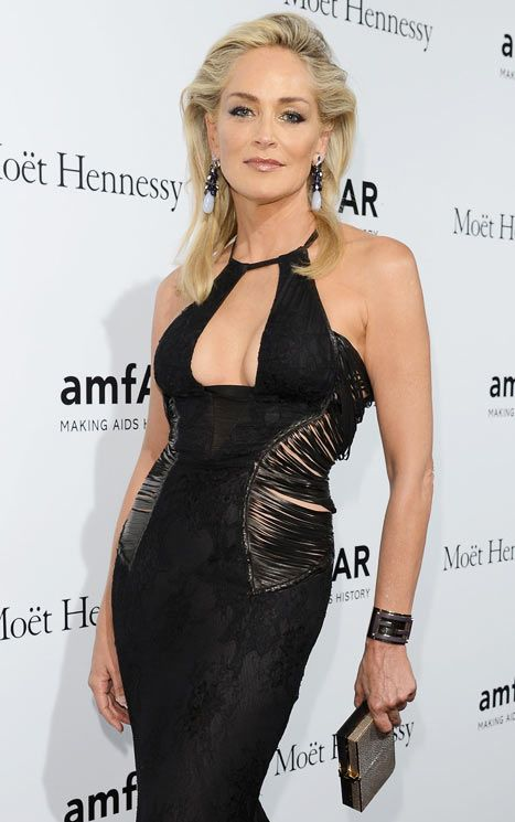 Sharon Stone attends amfAR Milano 2012 on September 22, 2012 in Milan, Italy.