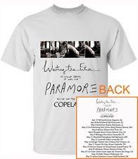 Paramore Writing The Future Tour Date 2015 2'Sides T-Shirt S M L XL 2XL 3XL