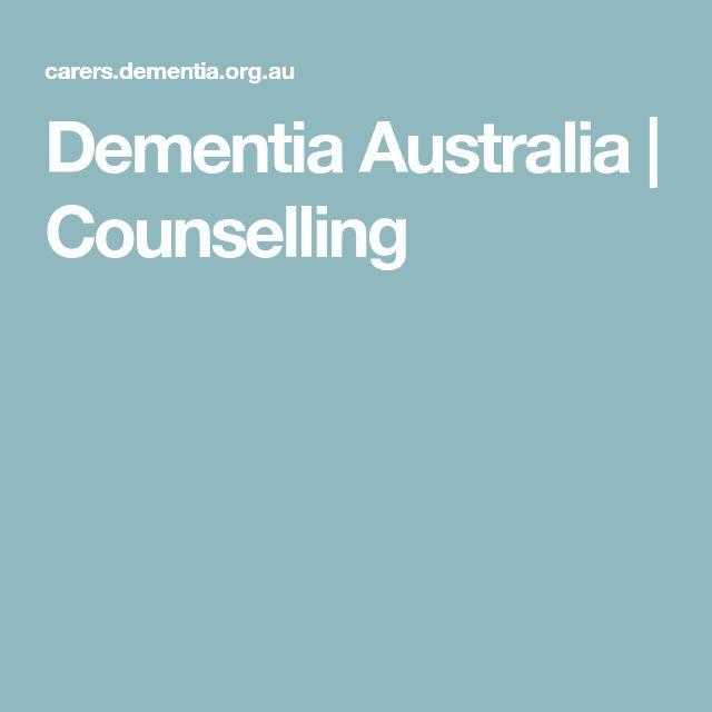 Dementia Australia | Counselling
