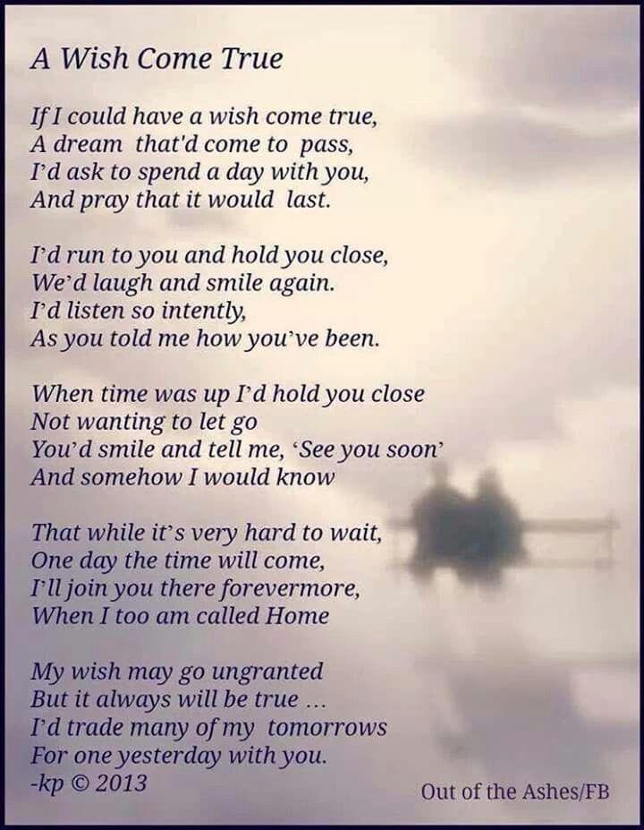 A wish come true poem