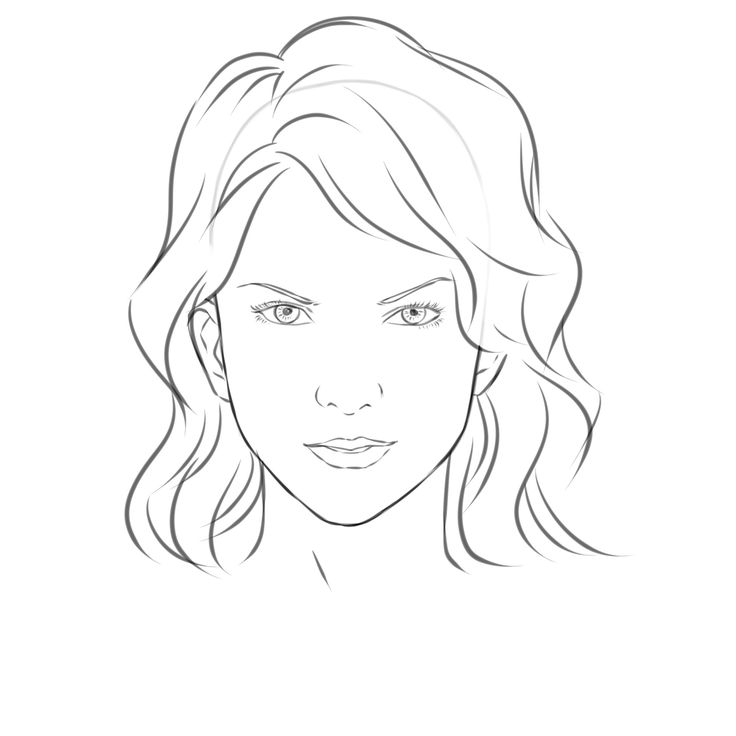 Draw a girls face face drawings female faces and drawings