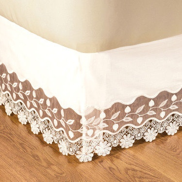 beautiful lace bedskirt