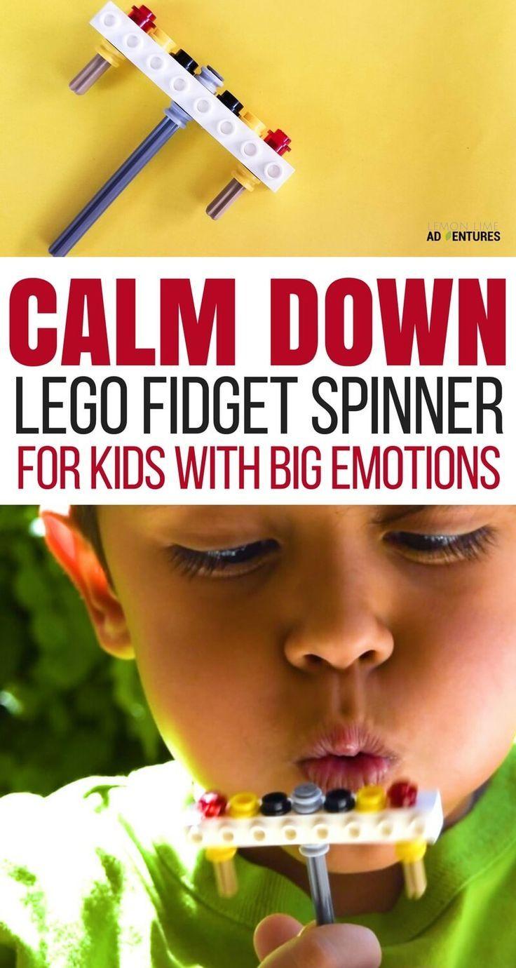 Lego Calm Down Fidget Spinner for Kids with Big Emotions via @lemonlimeadv