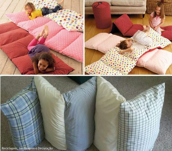 Pillow Bed Mattress Tutorial Sew Pillowcases Together Insert Pillows Instant
