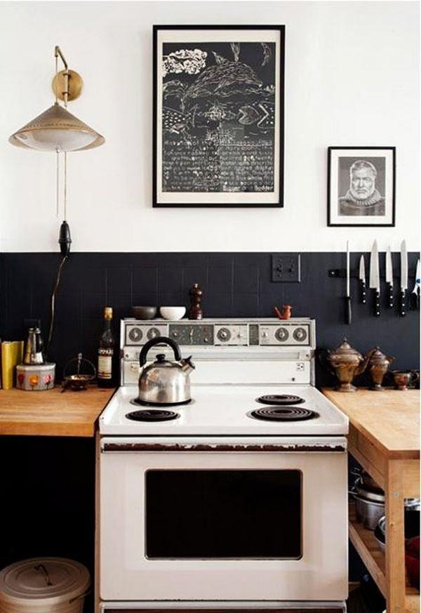 Simple kitchen. B L O O D A N D C H A M P A G N E . C O M:
