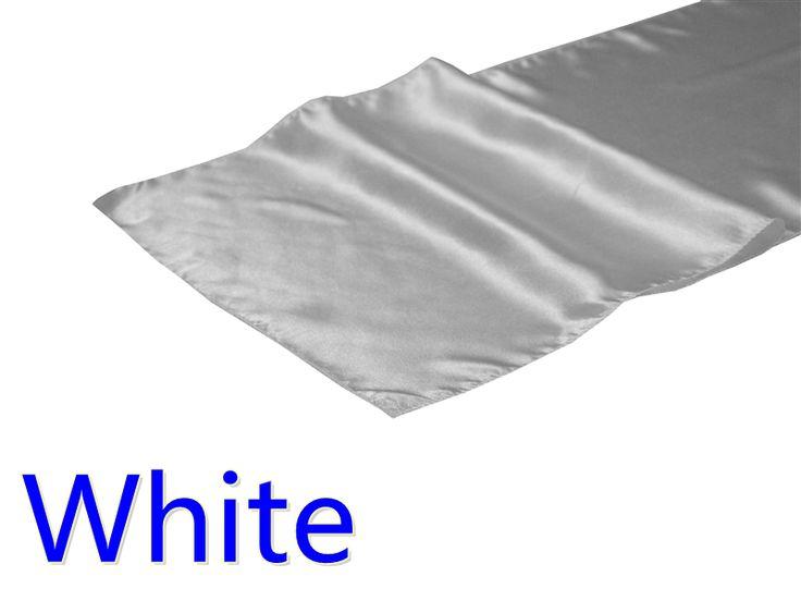 Свадебные украшения атласные 270 см атласа бегун стол, белый цвет 30 см ширина свадебный отель банкет ну вечеринку украшение стола