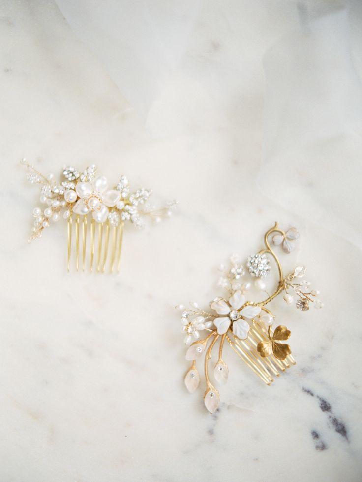 A Glamorous Black Tie Wedding Awash With Candles WeddingDowntown Los AngelesBridal Hair AccessoriesBlack