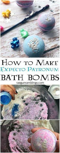 How to make expecto patronum bath bombs fun harry potter craft #artsandcraftsstores,
