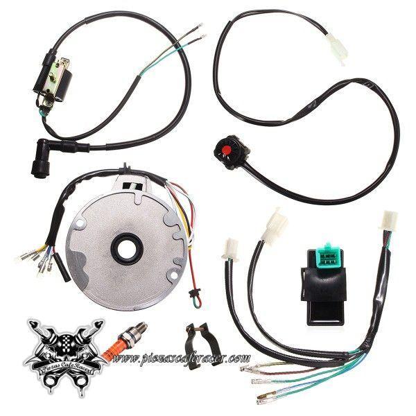 Cableado Eléctrico Completo Para GY6 CDI + Bujía + Magneto + Botón de Pare - 24,91€ - ENVÍO GRATUITO EN TODOS LOS PEDIDOS