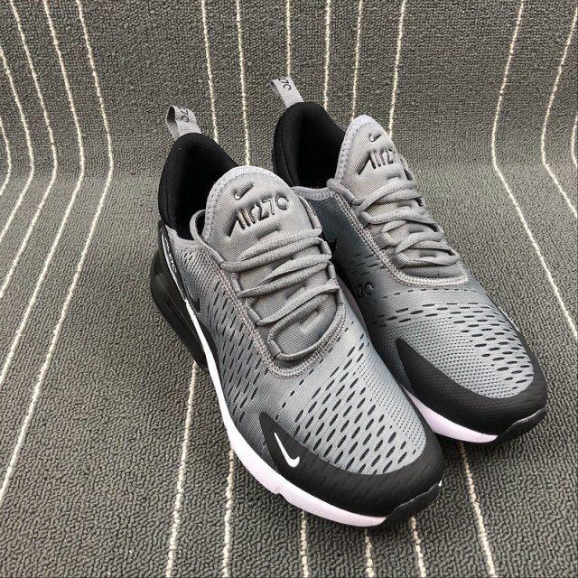 promo code 23743 046c8 Top Quality Nike Air Max 270 Retro Grey Black-White Men s Skateboarding  shoes Casual AH8050-003