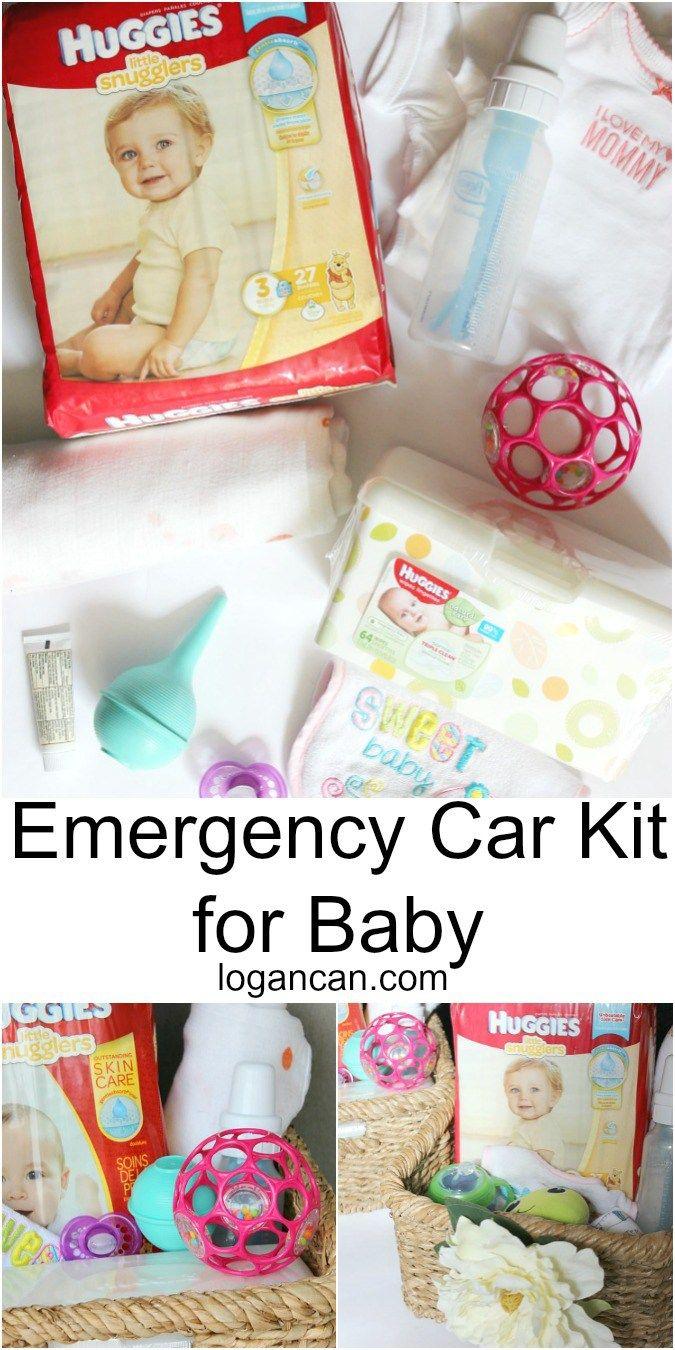 Emergency Car Kit for Baby LoganCan.com AD @walmart #SkinCareForBaby